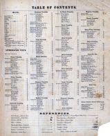 Table of Contents, Rock County 1873